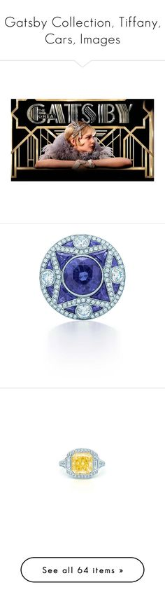 """Gatsby Collection, Tiffany, Cars, Images"" by judymjohnson ❤ liked on Polyvore featuring jewelry, rings, tiffany co jewellery, tiffany co rings, sapphire jewellery, gatsby ring, gatsby jewellery, bracelets, floral jewelry and black onyx bangle"