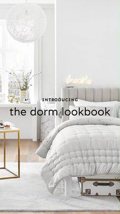 Dream Teen Bedrooms, Dorm Room Storage, Dorm Essentials, Dorm Decorations, Home Interior Design, Sweet Home, Room Decor, Bed Rooms, Design Bedroom