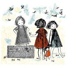 Vintage Childrens Book illustration by Maria Keil