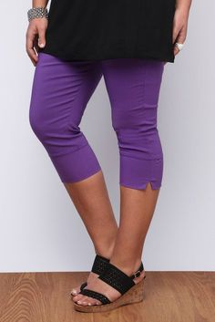 Yoursclothing Womens Plus Size Pull On Stretch Bengalin Cropped Trousers: Amazon.co.uk: Clothing