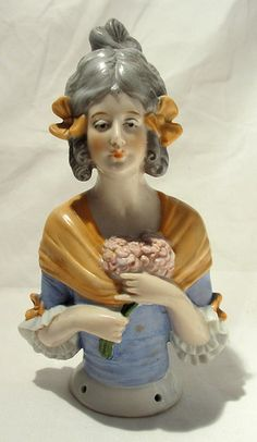 Lovely Large Antique German Porcelain Half Doll 16cm High No 13373 | eBay