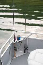Serious Fishing: Angler Qwest If fishing is your main priority, then the Angler Qwest is exactly what you're looking for. This series offers a distinctly designed pontoon boat with true fishing amenities . Fishing Boat Accessories, Pontoon Boat Accessories, Camping Accessories, Fishing Pontoon Boats, Pontoon Boating, Pontoon Party, Kayak Fishing, Fishing Boat Seats, Kayak Boats