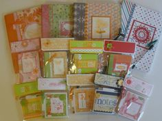 altered composition books, mini comp books and post-it holders