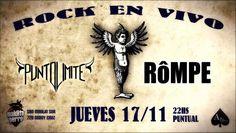 ROMPE Y PUNTO LIMITE EN VIVO !!! Jueves 17 22Hs ROMPE presentando su segundo disco PHYSIS junto a PUNTO LIMITE en Vivo !!! No te lo podes perder Maldito Perro se viste de Rock ...!!!!... http://sientemendoza.com/event/rompe-y-punto-limite-en-vivo/