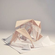 conceptmodel: Shelter Path model by Store front geometry.experiment with this shaping Folding Architecture, Concept Models Architecture, Pavilion Architecture, Interior Architecture, Interior Design, Therme Vals, Instalation Art, Shelter Design, 3d Modelle