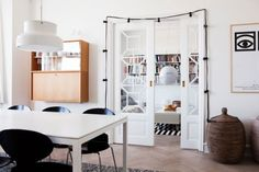 Glass french doors between rooms (preferably two clean rooms of course!)