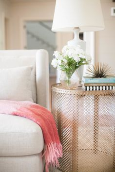 DIY open weave side table: http://www.stylemepretty.com/living/2015/09/11/bedroom-diys-to-save-on-from-the-today-show/