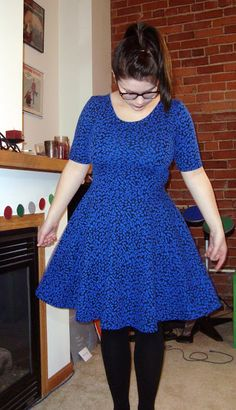 r.naab: Blue Skater Dress McCalls 6754