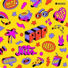 Leandro Assis on Behance Graphic Design Illustration, Digital Illustration, Apple Pop, Pop Hits, Posca Art, Design Fields, Pop Design, Design Art, Best Graphics