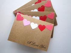 Items similar to Valentines Cards, Happy Valentines Day, Set of 4 on Etsy Valentines Diy, Happy Valentines Day, Tarjetas Diy, Cute Envelopes, Envelope Art, Love Cards, Paper Cards, Diy Paper, Boyfriend Gifts