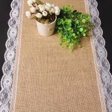 Image result for simple wedding table cloths hessian table runners