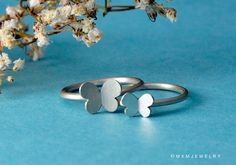 Double Butterfly Rings. $40.00, via Etsy.