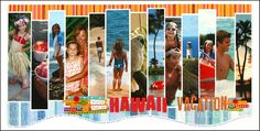 Scrapbook Page Layout Ideas | We'll be seein' ya across the Pacific Pond,