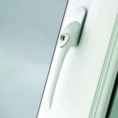 White uPVC Window Handle High Quality Best Prices Window Locks, Door Locks, Upvc Window Handles, Door Handles, Upvc Windows, Windows And Doors, Upvc French Doors, Door Images, Key Lock