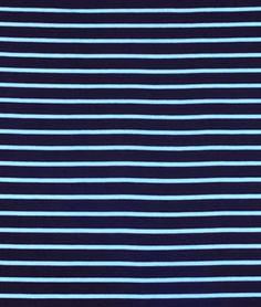 Shop Riley Blake Stripe Quarter Inch Aqua/Navy Knit Fabric at onlinefabricstore.net for $12.7/ Yard. Best Price & Service.
