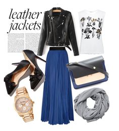 """""""Hijab: Leather Jacket"""" by mean-da on Polyvore featuring Markus Lupfer, Diane Von Furstenberg, MANGO, Marni and Ted Baker"""