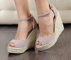 Item Type: Sandals Fit: Fits true to size Platform Height: 3-5cm Heel Height: Super High (8cm) Lining Material: Canvas Insole Material: PU Outsole Material: Rubber Heel Type: Wedges Upper Material: Flock