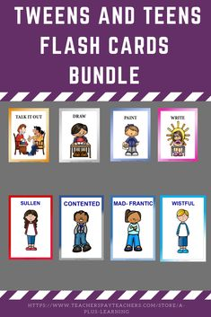 This bundle includes 3 of our resources for tweens and teens. Resources included: Tweens and Teens Feelings Flash Cards Keep Calm Strategies for Tweens and Teens Volume 1 Keep Calm Strategies for Tweens and Teens Volume 2 Classroom Organization, Classroom Management, School Resources, Classroom Resources, School Stuff, Back To School, All Schools, My Teacher, Tween