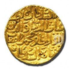 Tanka Description:  Al Sultan Al Azam Shams Al Dunya Wa'd Din Abu'l Muzaffar Ibrahim Shah Al Sultan Khulidat Mamlakatahu Dynasty: Sultans of Madura | Ruler / Authority: Ghiyat Al Din Muhammad Damghan Shah | Denomination: Tanka | Metal: Gold | Weight (gm):11.8-11.9 | Shape: Round | Calendar System: Anno Hijri (AH) | Issued Year: 744 | Minting Technique: Die struck | Rarity: XR | Mint: Daulatabad |