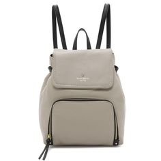Kate Spade New York Charley Backpack (476 AUD) ❤ liked on Polyvore featuring bags, backpacks, drawstring bag, leather knapsack, drawstring flap backpack, leather flap backpack and leather drawstring backpack