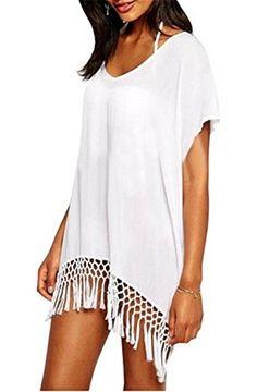 Taydey Women's Swimwear Knitted Crochet Tunic Cover up / Beach Dress