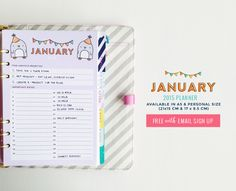 Free January 2015 Wallpaper, Calendar for desktop, iPhone & iPad and Filofax Planner  from DESIGN IS YAY! {newsletter subscription required}