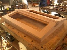 Skylight for a boat. Sailboat Interior, Yacht Interior, Wooden Decks, Wooden Boats, Woodworking As A Hobby, Woodworking Projects, Butterfly Hatching, Narrowboat Interiors, Boat Restoration