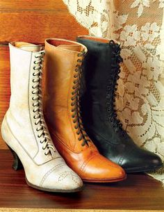 $199.95 Kidskin lace-ups with graceful styling and classic punch work motif upon toe. Fine leather. Available in: Rustic, Black, and French White. Sizes 6-11. (half sizes available, except 10.5).