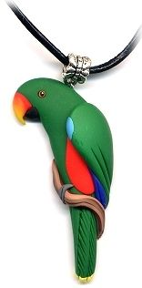 CUSTOM ECLECTUS PARROT JEWELRY, EARRINGS, NECKLACES & MORE @ Alicia's Creations ParrotJewelry.com