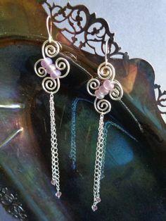 Butterfly dangle earrings, handmade by IrisJewelryCreations