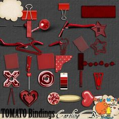 A Tomato Color Series Bindings - $2.99 : Caroline B., My Magic World of Digital Design