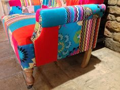 Patchwork Sofa's hand made with Velvet door smithersofstamford