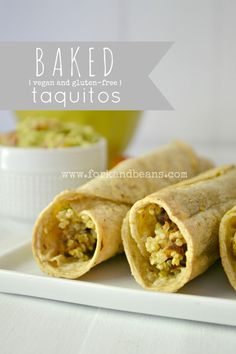 Baked Taquitos - Fork & Beans