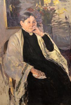 Mary Cassatt - Mrs Robert Cassatt - The Artist's Mother, 1889 at de Young Museum of Fine Arts - San Francisco CA
