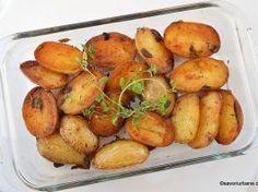 Cartofi cu ierburi aromatice și usturoi – la cuptor sau la tigaie Pretzel Bites, Side Dishes, Potatoes, Bread, Vegetables, Cooking, Food, Recipes, Kitchen