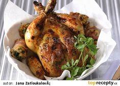 Pečené kuře s nádivkou recept - TopRecepty.cz Turkey, Meat, Turkey Country