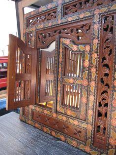 Indonesian Shutter Decorative Mirror $221.00