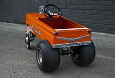 Just A Car Guy: little big shot, by James Schupp Rat Rods, Toy Wagon, Kids Wagon, Radio Flyer Wagons, Diy Go Kart, E Motor, Kids Ride On, Ride On Toys, Pedal Cars