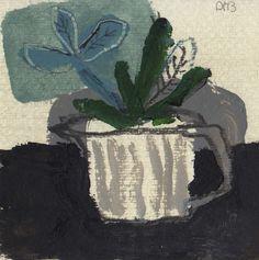David Pearce, Small Paintings Paintings Winter Cactus Painting