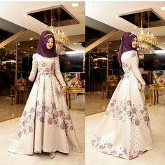 Hijab Evening Dress, Hijab Dress, Hijab Outfit, Abaya Fashion, Muslim Fashion, Fashion Muslimah, Bridal Hijab, Hijab Bride, Maxi Shirt Dress