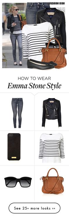"The top, jacket and shades are cute. :) ""Celebrity Style: Emma Stone"" by prettyorchid22 on Polyvore"