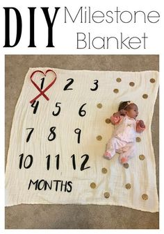 DIY Milestone Blanket || The Chirping Moms (Diy Gifts Baby)