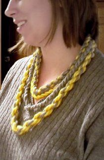 This Twisted Yarn Necklace is the perfect project if you're looking for inexpensive jewelry making ideas, especially if you already have some leftover yarn at home. This project is so simple, yet so trendy. Your friends will be begging you for one!