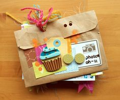 I love this mini book by Michelle Clement for American Crafts!  So cute!