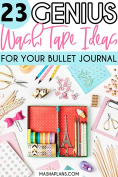 23 Genius Bullet Journal Washi Tape Ideas | Masha Plans