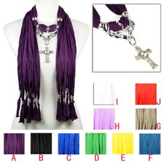 CCB beads alloy cross charms jewelry scarf jersey scarf fashion lady