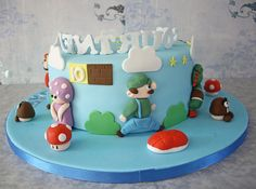 Courtney's Super Mario Birthday Cake by Emkatt77, via Flickr