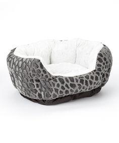 Danawares Corporation Black Textured Fleece Cuddler Pet Bed | zulily