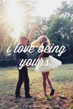 "Simply put, ""I love being yours."" #lovequotes #love"