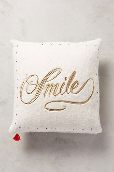 Merry Sentiments Pillow - anthropologie.com